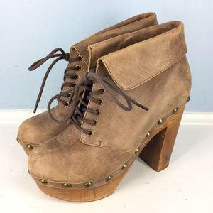 Woodies Jeffrey Campbell 7 Brown Leather booties